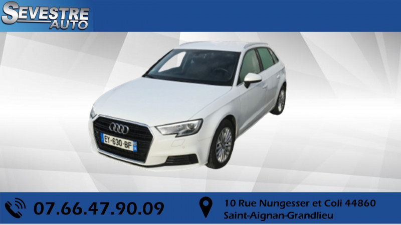 Audi A3 SPORTBACK 1.6 TDI 116CH Diesel BLANC Occasion à vendre