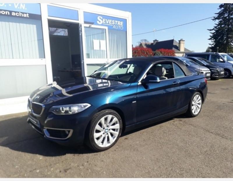 Bmw SERIE 2 CABRIOLET (F23) 218DA 150CH LUXURY Diesel BLEU Occasion à vendre