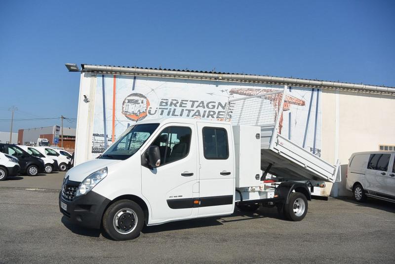 Renault MASTER BENNE + COFFRE R3500RJ L4 165CH 6 PLACES GRD CFT + OPTIONS Diesel BLANC Occasion à vendre