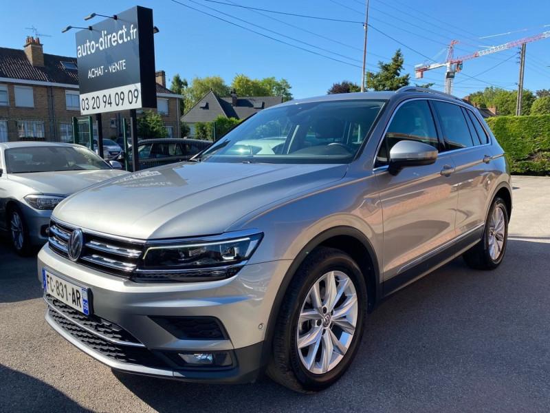 Volkswagen TIGUAN 2.0 TDI 150CH CARAT DSG7 EURO6D-T Diesel GRIS F Occasion à vendre