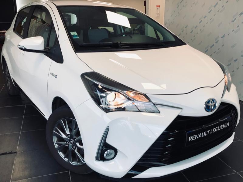 Toyota Yaris 100h Dynamic 5p RC19 Hybride BLANC Occasion à vendre