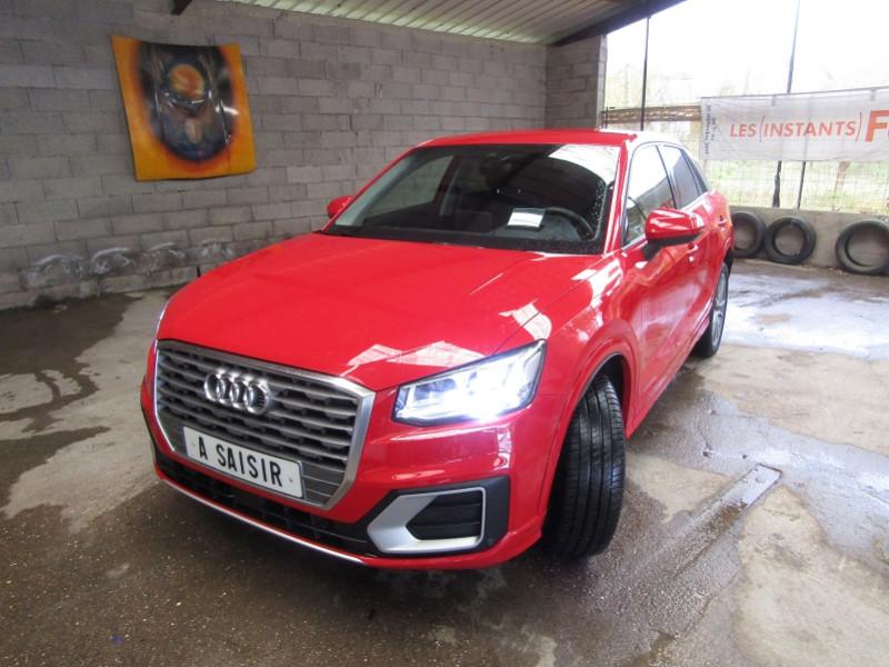 Audi Q2 TFSI S-TRONIC SPORT BOÎTE AUTO 7 RAPPORTS LUXE CAMÉRA GPS CUIR  FULL LEDS  USB Essence ROUGE HADES Occasion à vendre