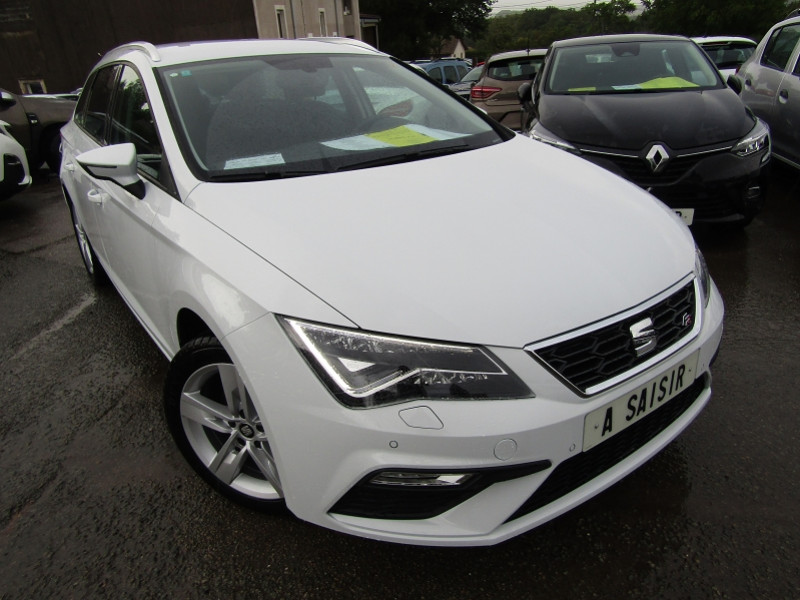 Seat LEON ST TSI 130 CV ESSENCE FR SPORT SW GPS FULL LEDS MP3 BEATS JA 17 PK HIVER RÉGULATEUR Essence BLANC NEVADA Occasion à vendre