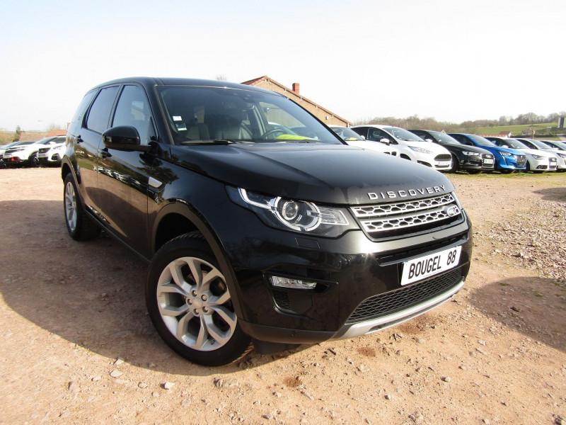 Land-Rover DISCOVERY SPORT HSE 4WD TD4 180 CV MARK III GPS CAMÉRA TOIT PANO XÉNON PK HIVER JA 19 BOITE AUTO Diesel NOIR SANTORINI Occasion à vendre
