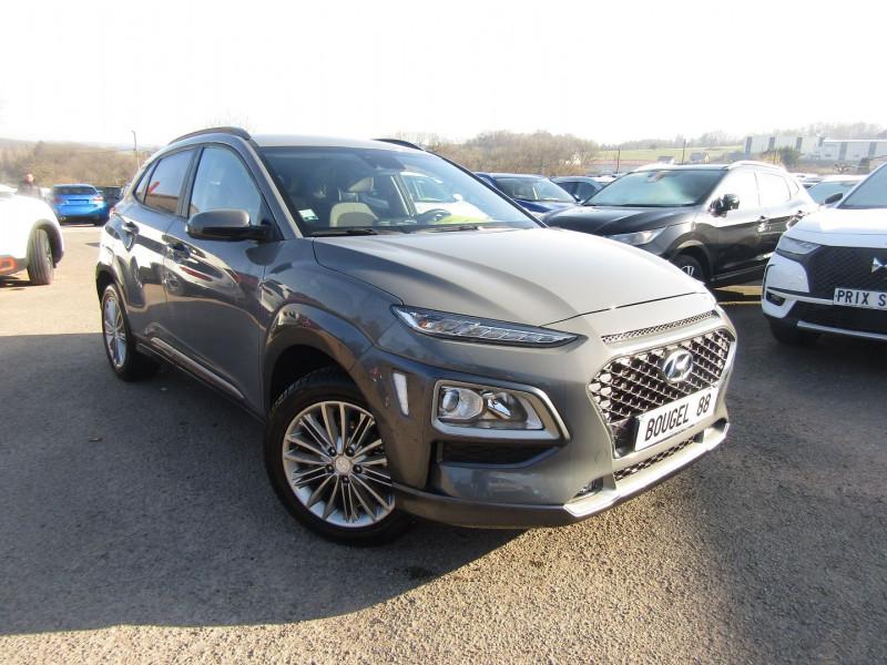 Hyundai KONA T-GDI ESSENCE 120 CV CREATIVE GPS CAMÉRA USB PK HIVER JA 17 BLUETOOTH RÉGULATEUR Essence GRIS GALACTIC Occasion à vendre