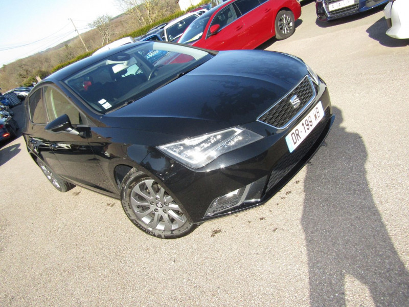 Seat LEON III 1L6 TDI 105 CV I-TECH GPS TACTILE AUDIO MP3 USB JA 16 RADAR BLUETOOTH RÉGULATEUR Diesel NOIR INTENSE Occasion à vendre