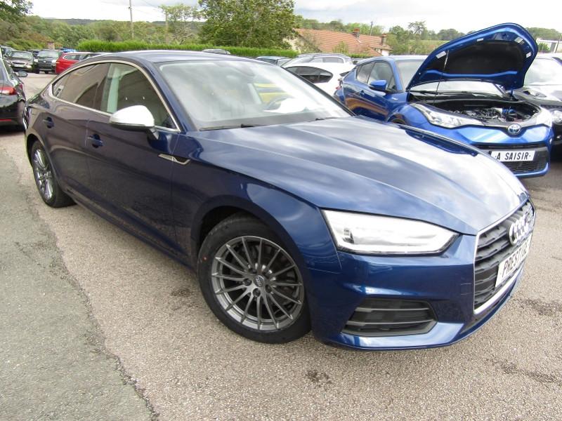 Audi A5 SPORTBACK 2.0 TDI 150CH DESIGN LUXE S TRONIC 7 Diesel BLEU RECIF Occasion à vendre