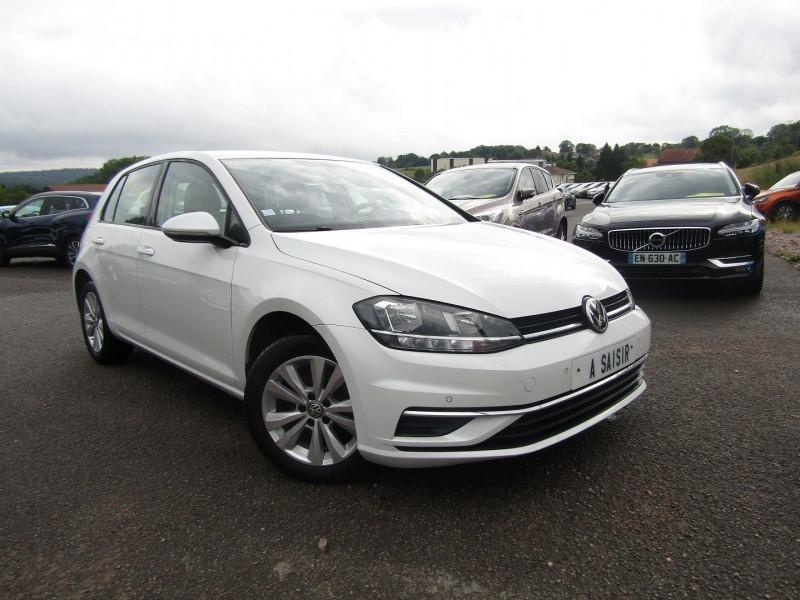 Volkswagen GOLF VII 2L TDI 150 CV CONFORTLINE BUSINESS GPS TACTILE USB RÉGULATEUR BOITE AUTO DSG-6 Diesel BLANC NACRÉ Occasion à vendre