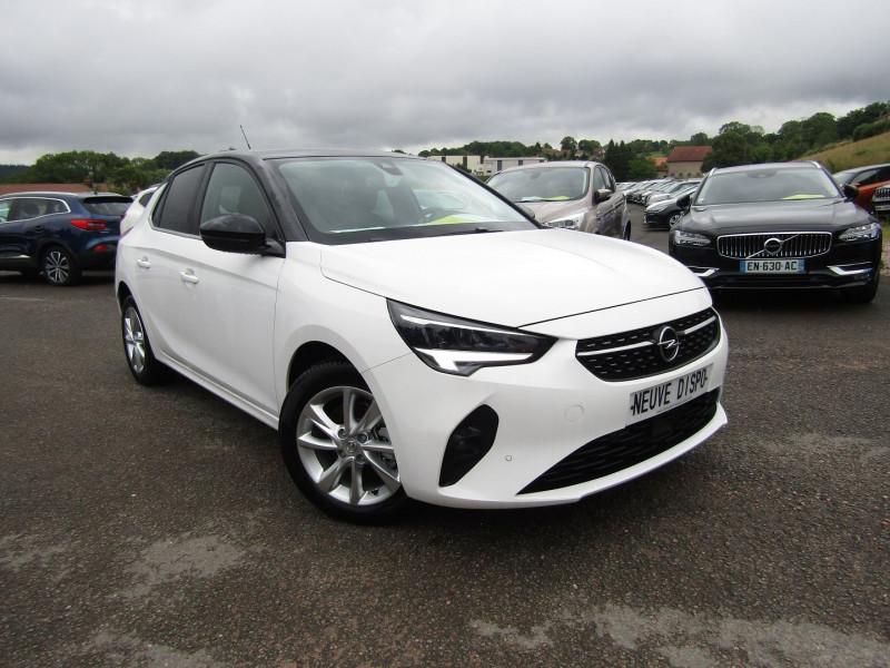 Opel CORSA 4 ELEGANCE 100 CV PURETECH GPS 3D CAMÉRA FULL LED I-COKPIT USB BI-TONS RÉGULATEUR Essence BLANC / TOIT NOIR Occasion à vendre