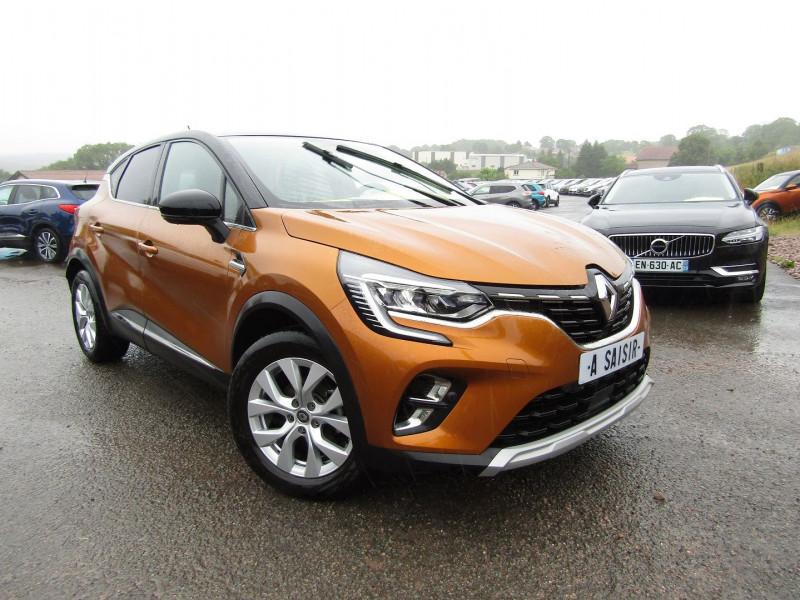Renault CAPTUR 4 BLUEDCI 115 CV INTENSE LUXE SPORT BICOLOR CAMÉRA GPS CUIR FULL LEDS BOITE AUTO 7 Diesel ORANGE TOIT NOIR Occasion à vendre