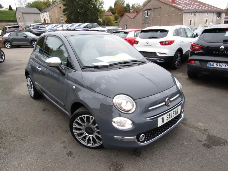 Fiat 500 II CLUB HER 1L2 8V 70 CV ESSENCE GPS TOIT PANO USB JA 16 RADAR BLUETOOTH RÉGULATEUR Essence GRISE NANOS Occasion à vendre