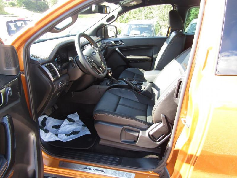 Photo 9 de l'offre de FORD RANGER III SUPER CAB WILDTRACK 2L TDCI 213 CV BI-TURBO 4X4 GPS CAMÉRA ATTELAGE COUVRE BENNE à 39500€ chez Bougel transactions