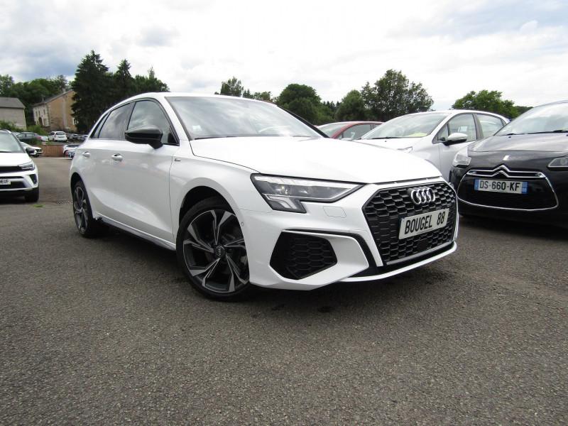 Audi A3 SPORTBACK 30 TDI S-LINE SPORT 115 CV GPS 3D CAMÉRA FULL LED USB JA 18 I-COKPIT PARK ASSIST Diesel BLANC SPORT Occasion à vendre