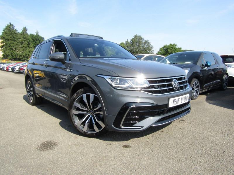 Volkswagen TIGUAN 4 2L TDI 150 CV R-LINE GPS 3D CAMÉRA 360° FULL LED MATRIX TOIT PANO BOITE AUTO DSG Diesel GRIS DAUPHIN Occasion à vendre