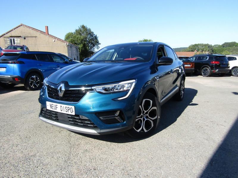 Renault ARKANA 1L3 TCE INTENSE 140 CV BOÎTE AUTO EDC.7 CAMÉRA GPS FULL LEDS CUIR PARK ASSIST Essence BLEU TOIT NOIR Occasion à vendre