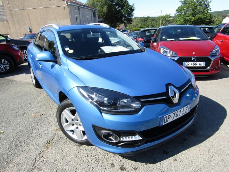 Renault MEGANE III ESTATE ENERGY BUSINESS DCI 110 CV GPS R-LINK AUDIO MP3 USB RADAR BLUETOOTH RÉGULATEUR Diesel BLEU CELESTE Occasion à vendre