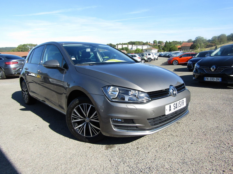 Volkswagen GOLF 7 ALLSTAR CAMÉRA 1L6 TDI 110 CV GPS TACTILE USB JA 16 PACK HIVER RADAR RÉGULATEUR Diesel GRIS CARBONE Occasion à vendre