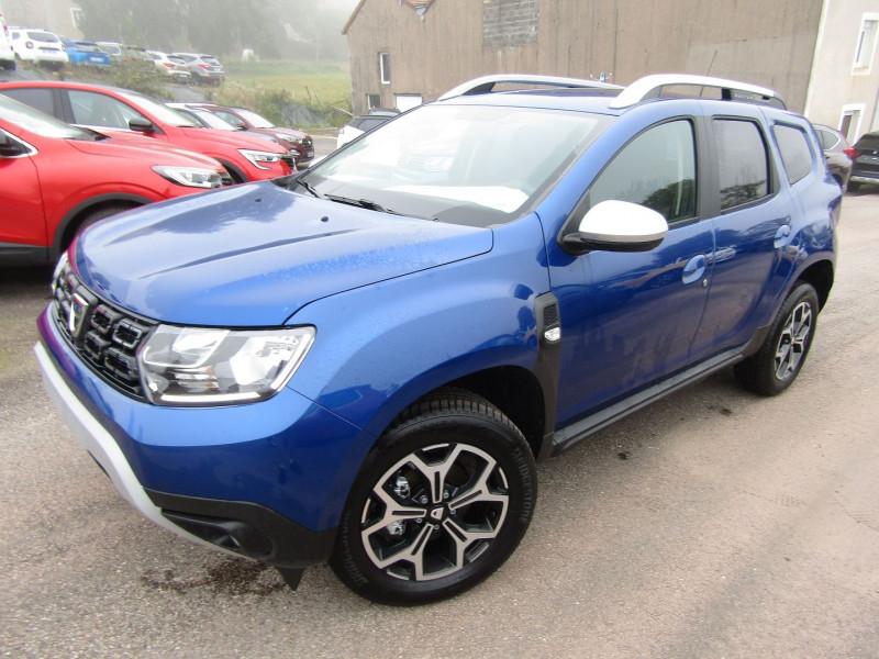 Dacia DUSTER III BLUE DCI 115 CV PRESTIGE GPS TACTILE CLIM CAMÉRA USB JA 17 PACK HIVER RÉGULATEUR Diesel BLEU IRON Occasion à vendre