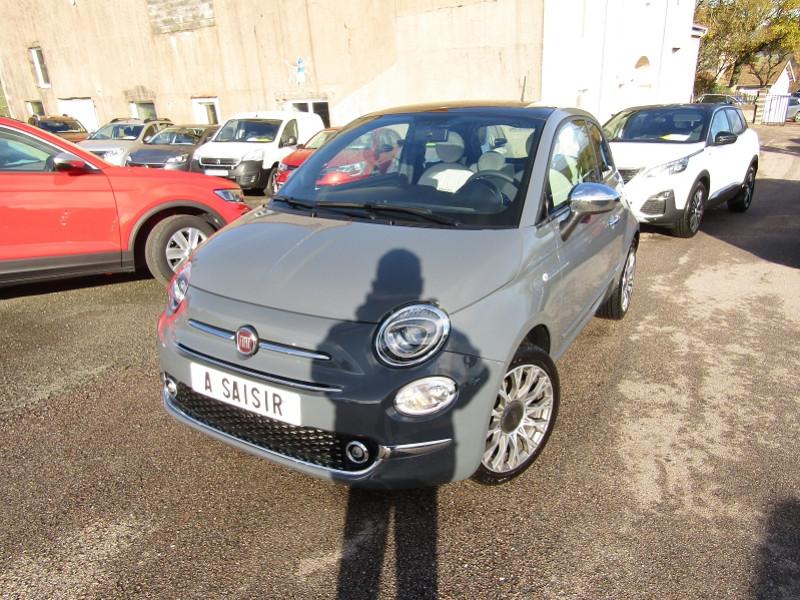 Fiat 500 II CLUB HER 1L2 8V 70 CV ESSENCE GPS TOIT PANO USB JA 16 RADAR BLUETOOTH RÉGULATEUR Essence GRIS NANOS Occasion à vendre