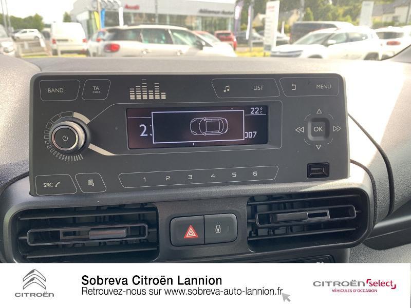 Photo 14 de l'offre de CITROEN Berlingo Van M 650kg BlueHDi 130 S&S Club à 17490€ chez Sobreva - Citroën Lannion