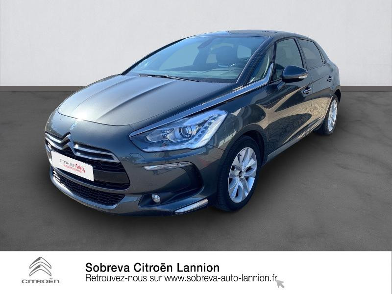 Citroen DS5 2.0 BlueHDi180 So Chic S&S EAT6 Diesel GRIS PLATINIUM Occasion à vendre