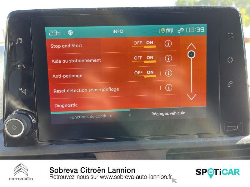 Photo 16 de l'offre de CITROEN Berlingo Van M 650kg BlueHDi 100 S&S Driver à 18490€ chez Sobreva - Citroën Lannion