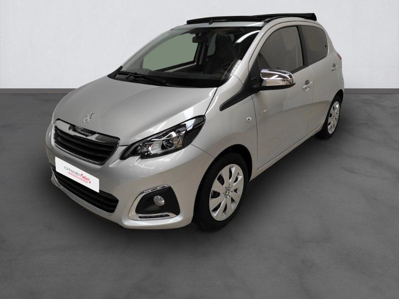Photo 1 de l'offre de PEUGEOT 108 VTi 72 Top! Style S&S 4cv 5p à 12880€ chez Garage Payoux - Citroën Ploermel