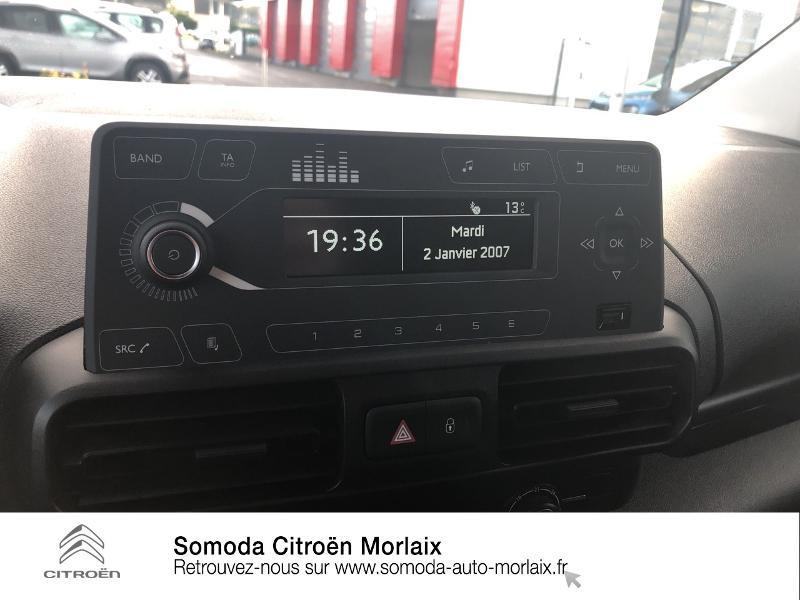 Photo 13 de l'offre de CITROEN Berlingo Van M 1000kg BlueHDi 100 S&S Worker à 19080€ chez Somoda - Citroën Morlaix