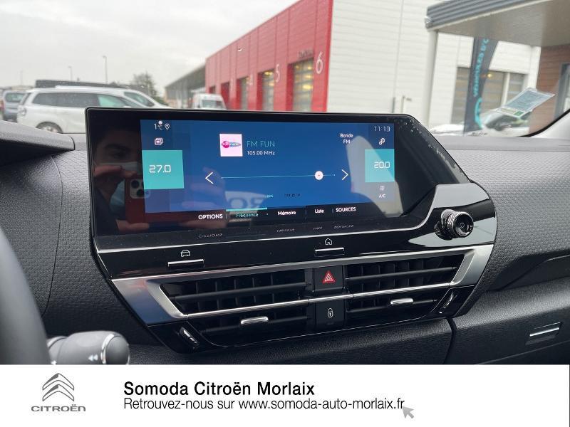 Photo 13 de l'offre de CITROEN C4 Moteur électrique 136ch (100 kW) Feel Pack Automatique à 38500€ chez Somoda - Citroën Morlaix