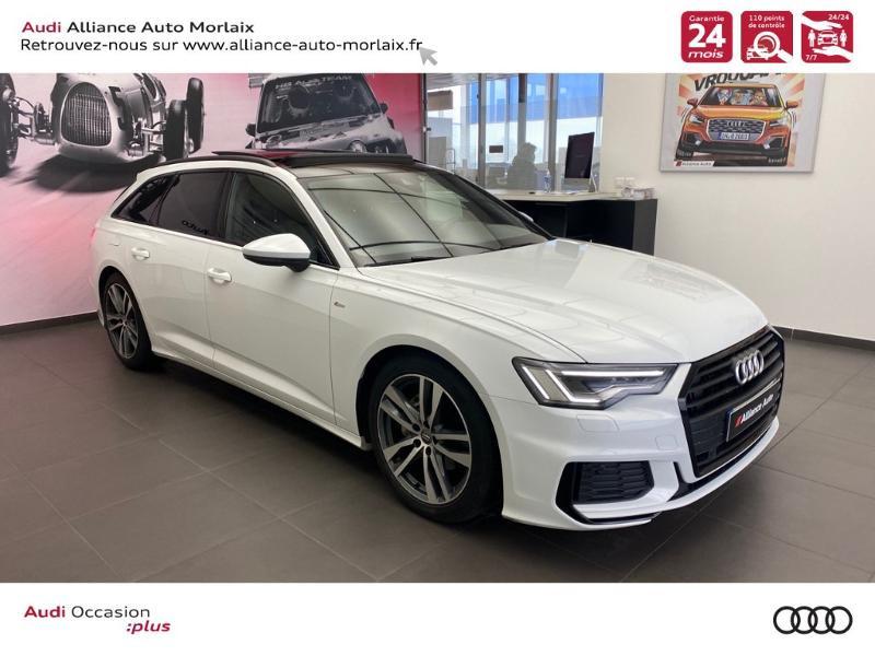 Audi A6 Avant 40 TDI 204ch S line S tronic 7 Diesel Blanc Métal Occasion à vendre