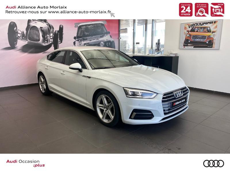 Audi A5 Sportback 2.0 TDI 150ch S line S tronic 7 Diesel Blanc Métal Occasion à vendre
