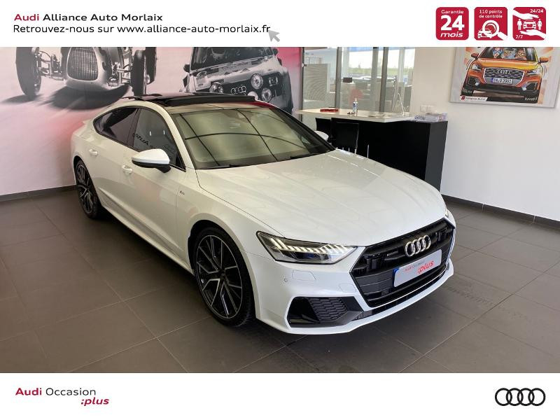 Audi A7 Sportback 50 TDI 286ch Avus Extended quattro tiptronic 8 Euro6d-T 138g Diesel Blanc Métal Occasion à vendre