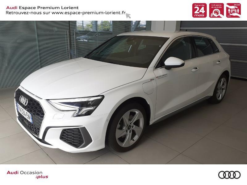 Audi A3 Sportback 40 TFSI e 204ch S line S tronic 6 Hybride BLANC IBIS Occasion à vendre