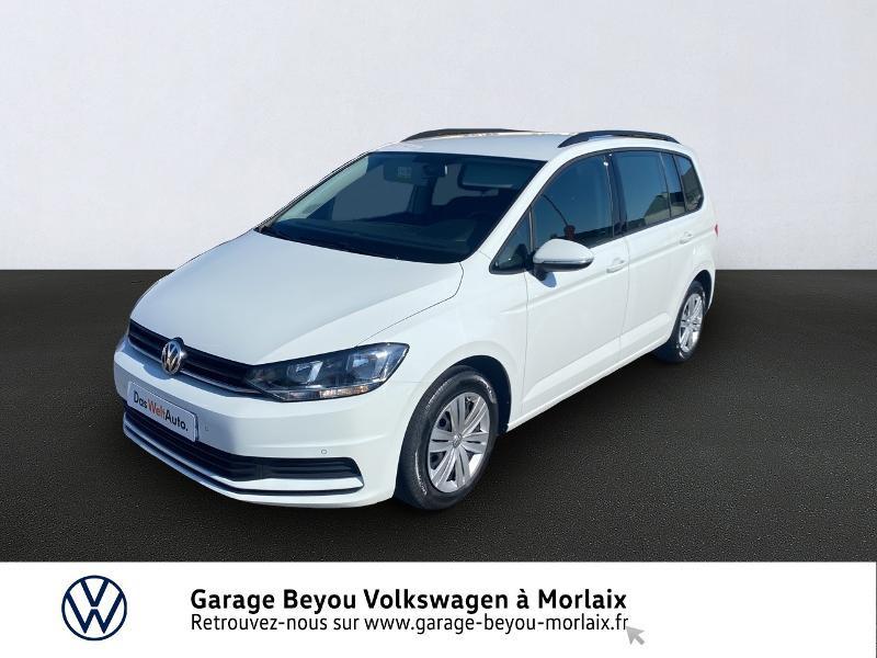 Volkswagen Touran 1.6 TDI 115ch BlueMotion Technology FAP Trendline 7 places Diesel BLANC PUR Occasion à vendre
