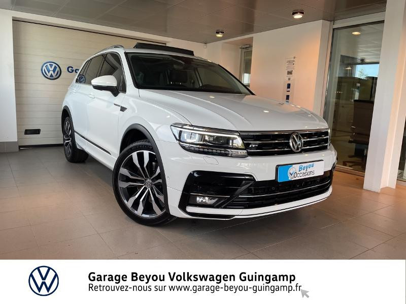 Volkswagen Tiguan 2.0 BI-TDI 240ch Carat Exclusive 4Motion DSG7 Diesel BLANC PUR Occasion à vendre