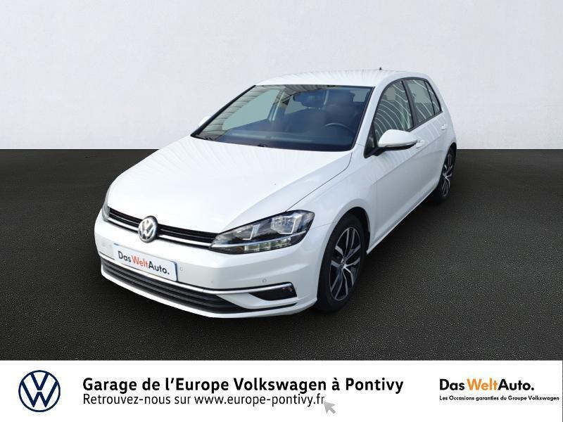 Volkswagen Golf 1.6 TDI 115ch FAP Confortline 5p Diesel BLANC ORYX NACRE Occasion à vendre