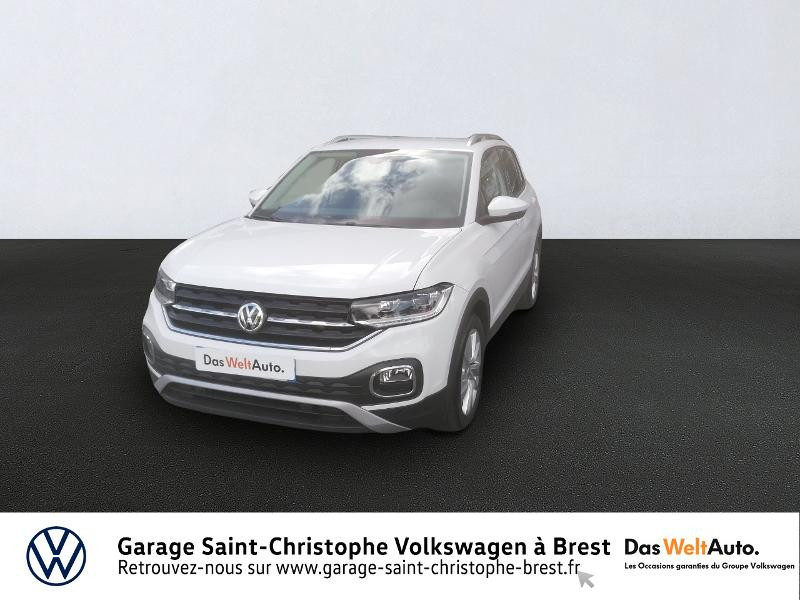 Volkswagen T-Cross 1.0 TSI 115ch Carat DSG7 Essence BLANC Occasion à vendre