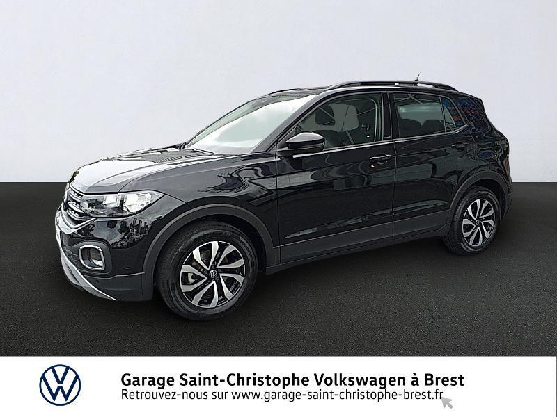 Volkswagen T-Cross 1.0 TSI 110ch Active DSG7 Essence NOIR Occasion à vendre