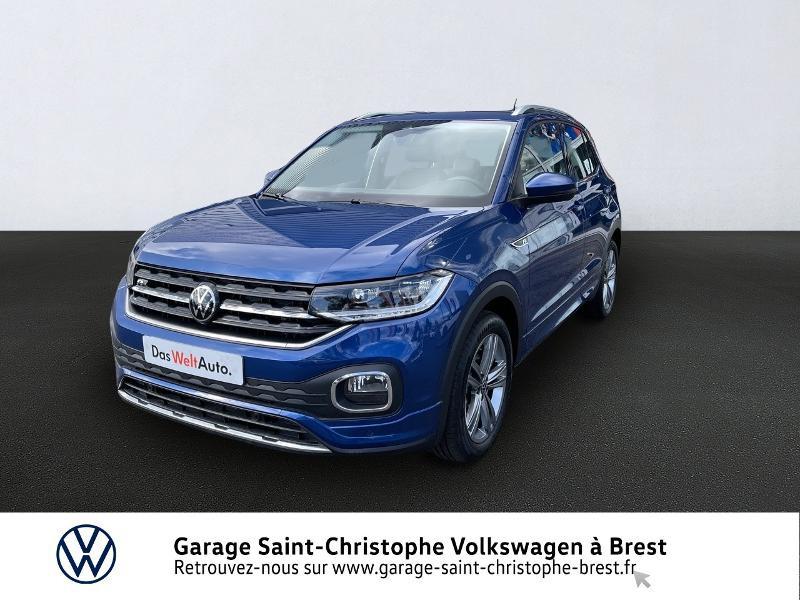 Volkswagen T-Cross 1.0 TSI 110ch R-Line DSG7 Essence BLEU Occasion à vendre