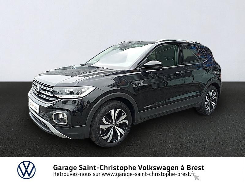 Volkswagen T-Cross 1.0 TSI 110ch Carat DSG7 Essence NOIR INTENSE METALLI Occasion à vendre