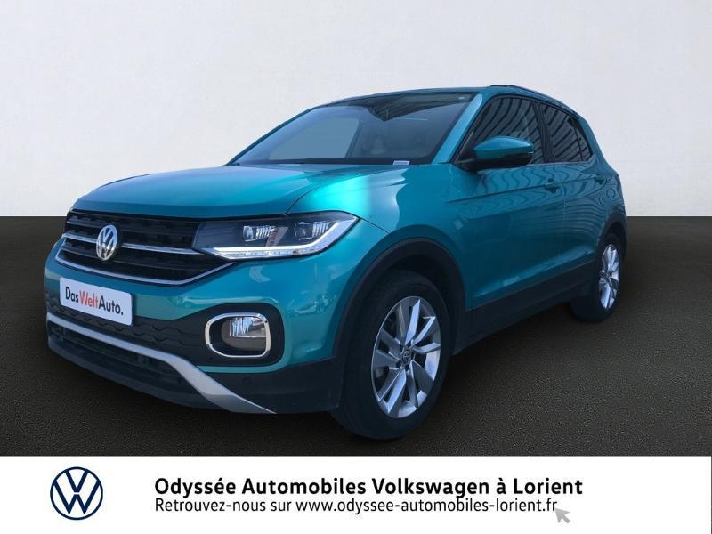 Volkswagen T-Cross 1.0 TSI 115ch Carat DSG7 Essence TURQUOISE MAUI Occasion à vendre