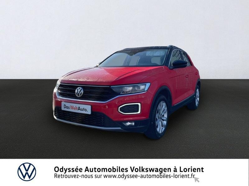 Volkswagen T-Roc 1.5 TSI EVO 150ch Carat Essence ROUGE FLASH TOIT NOIR Occasion à vendre