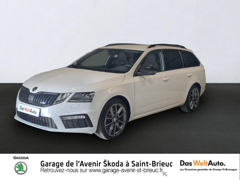 Skoda Octavia Break 2.0 TSI 245ch RS DSG7 Euro6d-T Essence Blanc Lune Occasion à vendre