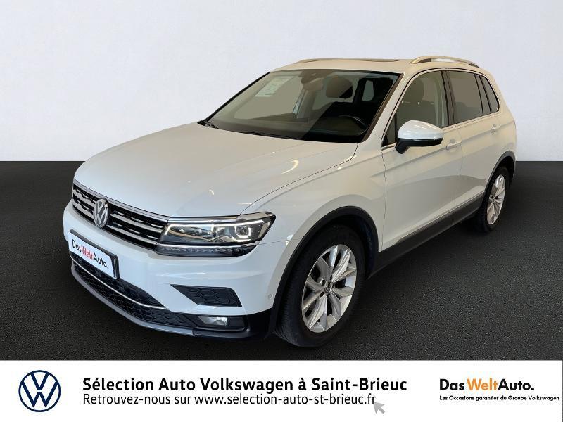 Volkswagen Tiguan 2.0 TDI 150ch Carat Diesel BLANC PUR Occasion à vendre