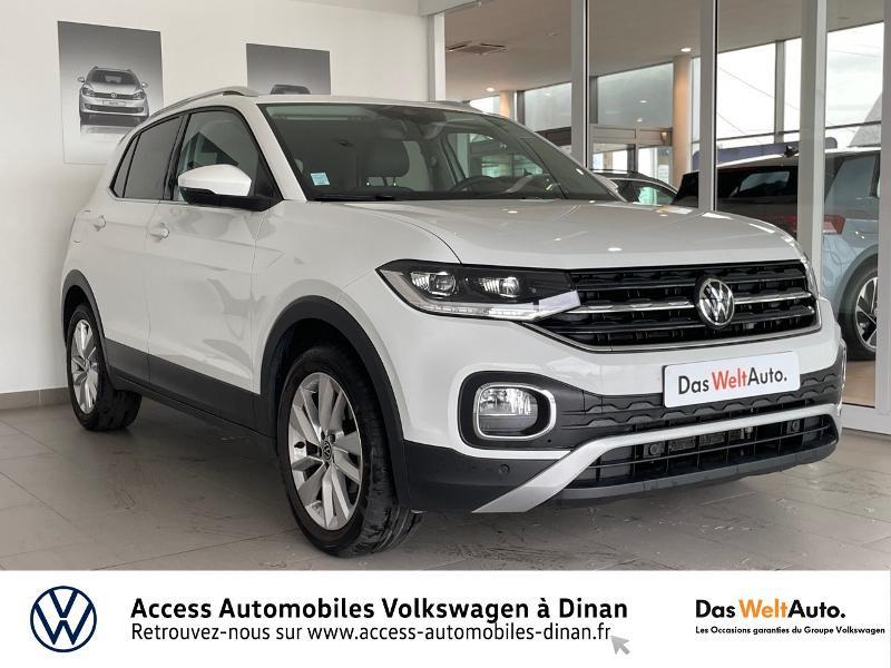 Volkswagen T-Cross 1.0 TSI 110ch Carat DSG7 Essence BLANC PUR Occasion à vendre