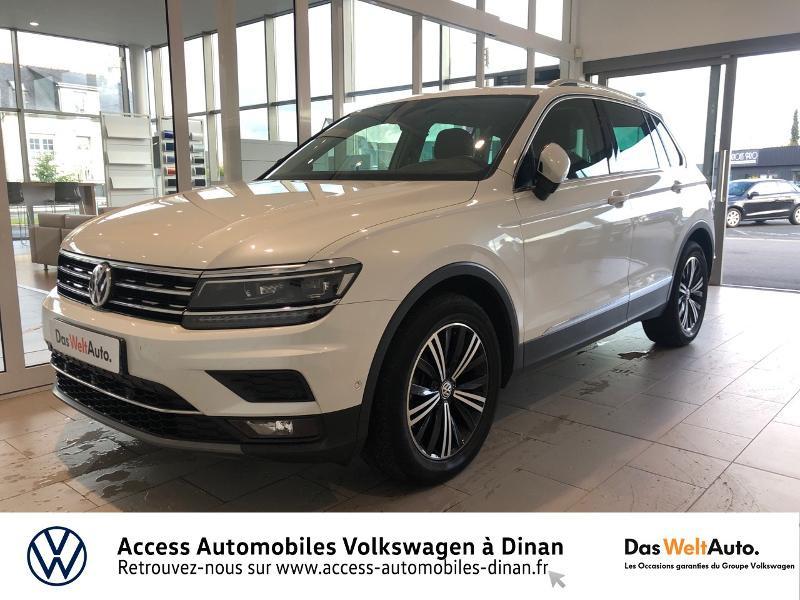 Volkswagen Tiguan 2.0 TDI 150ch Carat Exclusive DSG7 Diesel Blanc Métal Occasion à vendre