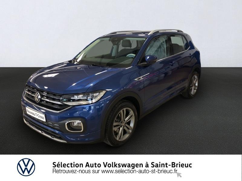 Volkswagen T-Cross 1.0 TSI 115ch R-Line DSG7 Essence BLEU RECIF Occasion à vendre