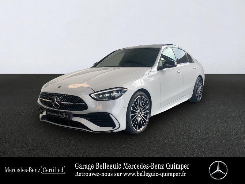 Mercedes-Benz Classe C 220 d 200ch AMG Line 9G-Tronic Diesel BLANC OPALE Occasion à vendre