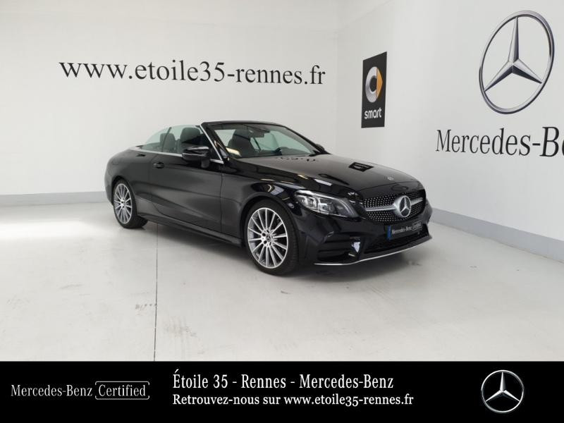 Mercedes-Benz Classe C Cabriolet 220 d 194ch AMG Line 9G-Tronic Euro6d-T Diesel Noir Obsidienne Occasion à vendre
