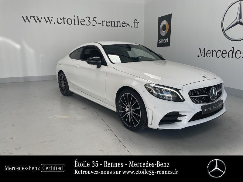 Mercedes-Benz Classe C Coupe 220 d 194ch AMG Line 9G-Tronic Euro6d-T Diesel Blanc Polaire Occasion à vendre